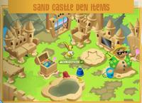 Sand castle den items jamaa journal