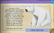 Polar bear day animal jam hat