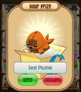 The-Claw Seal-Plushie Orange