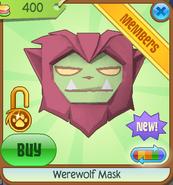 Werewolf Mask new pink