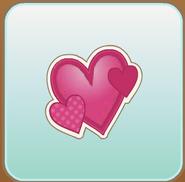 Jag Stamp three hearts