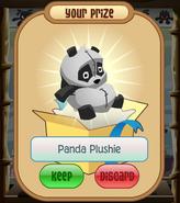 The-Claw Panda-Plushie Black