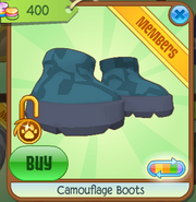 Camouflage Boots Blue