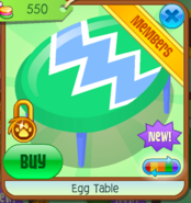 Egg Table - green