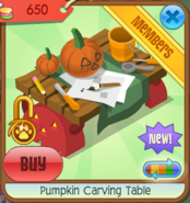 Pumpkin carving table 02