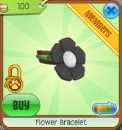 Shop Flower-Bracelet Black