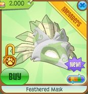 Feathered Mask lime
