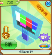 Shop Glitchy-TV Blue-Off-Air