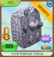 Sunken-Treasures Coral-Phantom-Statue White