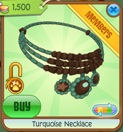 Turquoise Necklace green-brown
