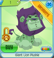 Diamond-Shop Giant-Lion-Plushie Green