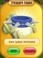 Lucky-Clovers Treasure-Epic-M Rare-Spiked-Wristband Long-Blue