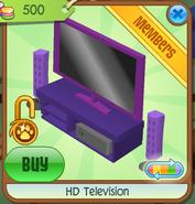 HD Television purple