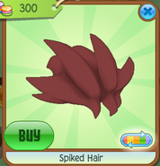 Shop Spiked-Hair Maroon