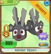 Reindeer slippers black