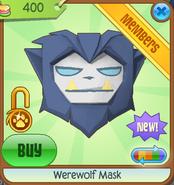 Werewolf Mask new blue