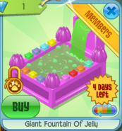 BHS Giant Fountain Of Jelly pink