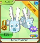 Reindeer slippers turquoise