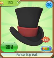 Hat-Shop Fancy-Top-Hat Black