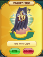 Rare purple hero cape