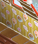Yellow Sweets In A Gingerbread House