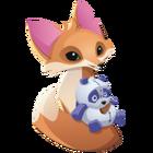 Fox art panda plushie