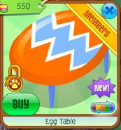 Egg Table - orange
