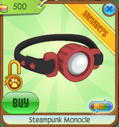 Steampunk Monocle red