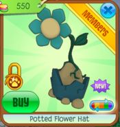 Potted Flower Hat - blue