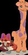 Aj giraffe&fox