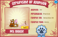 Certificate-of-Adoption Pet-Mouse