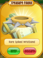 Lucky-Clovers Treasure-Epic-M Rare-Spiked-Wristband Long-Yellow