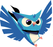 Blue owl graphic