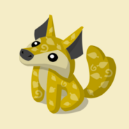 Item Exclusive Coyote Plushie yellow-leaf