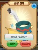Blue Head Feather