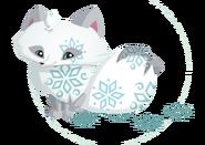 Polar Arctic Fox cut-out