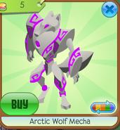 Arctic Wolf Mecha purple