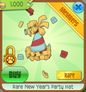 JMC Rare New Year's Party Hat