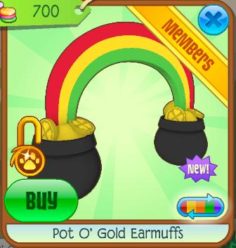 Pot O Gold Earmuffs Animal Jam Wiki Fandom Powered By Wikia