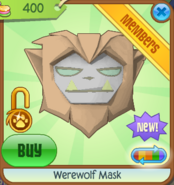 Werewolf Mask new orange