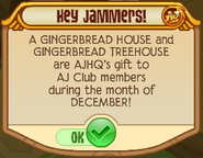Hey Jammers Gingerbread House