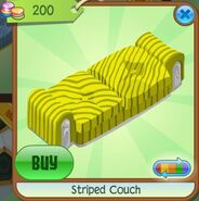 Striped Couch (Yellow)