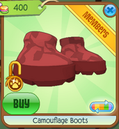 Camouflage Boots Red