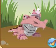 Croc with tiara