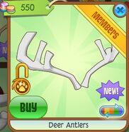 Deer Antlers (White)