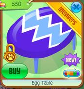 Egg Table - purple