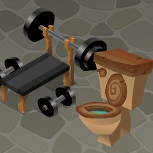 Image - Toilet and Weight Bench.png | Animal Jam Wiki | FANDOM ...