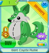 Giant Coyote Plushie 3