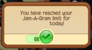 Jam-A-Gram Limit