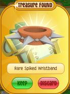 Lucky-Clovers Treasure-Epic-M Rare-Spiked-Wristband Long-Orange